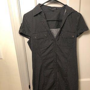 Express Button-Up, Polka Dot Dress Size 10